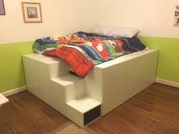 platform bed with stairs.  Stairs Platform Bed Frame Ikea Stairs With L