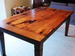 Rustic Furniture Stain Rustic Maple Harvest Table With Stain And Matte Epoxy Finish