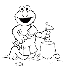 Small Picture Elmo Coloring Page Elmo Page adult