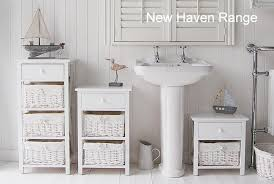 White Wooden Bathroom Furniture The New Haven Free Standing With