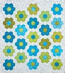 garden quilt. No Fuss Grandmother\u0027s Flower Garden Quilt E