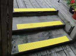Installing non-slip strips on outdoor strips