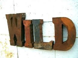 letter m decor large metal magnificent letters for wall corrugated steel drum art