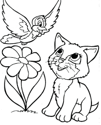coloring book and pages kitty cat color printable cool