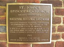 「St. John's Episcopal Church, Richmond, Virginia. map」の画像検索結果