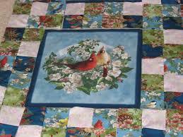 Quilting Kitty: 02/10/13 & Border made of squares of coordinating fabrics. Each bird block had it's  own border. Adamdwight.com