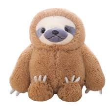 winsterch e giant stuffed toy plush sloth gift large baby doll soft plush toy pillow for boys and s brown 19 7 inches on on