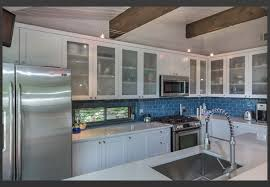 Mirror Tile Backsplash Kitchen Decorating Mirrored Tile Backsplash Blue Glass Subway Tile