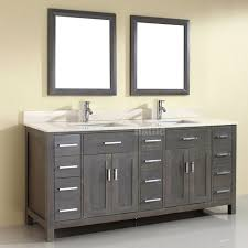 rustic gray bathroom vanities. Double Sink Bathroom Vanity Kalize 75 French Gray Finish Rustic Vanities