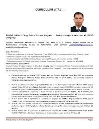 Process Engineer Resume Gorgeous Resume For Process Engineer Design Engineer Cover Letter Process