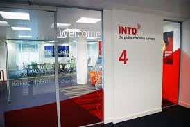 office graphic design. INTO Head Office Branding And Signage Graphic Design