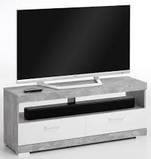 Tv Meubel Bristol 120 Cm Breed Grijs Beton Met Wit Fd Furniture