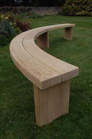 curved benches backless hardwood