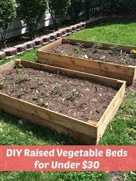 diy raised vegetable beds for under 30