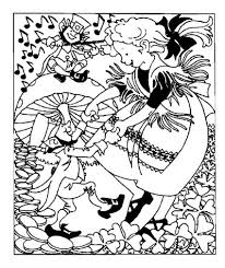 Small Picture Dancing with Leprechauns Coloring Page