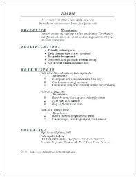 Resume Samples For Housekeeping Housekeeping Resume Sample