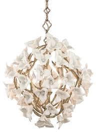 light pendant enchanted silver leaf