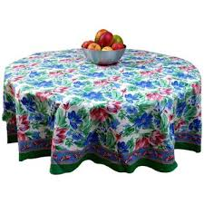 fl brush stroke print cotton tablecloth rectangular round gr