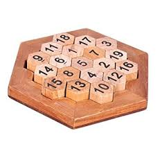 Wooden Math Games Amazon WISDOMTOY Classic Brain Teaser Wooden Hexagon Digital 4