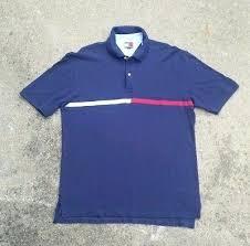 vintage 90s tommy hilfiger polo big flag rugby shirt navy windbreaker