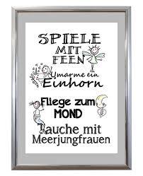 Kunstdruck Mit Feen Und Meerjungfrauen Todo List Und Spruch