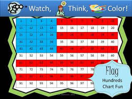 American Flag Hundreds Chart Fun Watch Think Color Mystery Pictures
