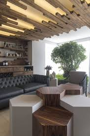 Wood Warms Modern Mexico Apartment in Unexpectedly Creative Ways (Fres Home).  Interior Ceiling DesignModern ...