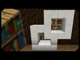 ✓ Minecraft How to make a Modern Bookshelf