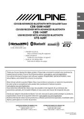 alpine cde 143bt manual alpine cde 143bt document