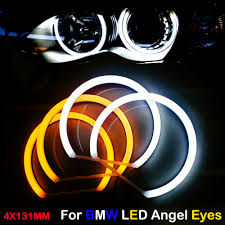 Us 28 7 30 Off Car Styling Dual Color White Yellow 4x131mm Led Halo Rings Cotton Light For Bmw E36 E38 E39 E46 M3 Led Smd Angel Eyes Lamp In Car