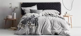 aura chambray vintage duvet cover
