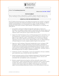 10 Housekeeping Supervisor Resume Skills Based Resume