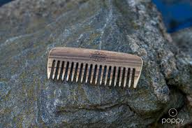 wooden beard comb large custom handmade