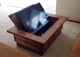 Large Screen Tv Stands Hidden Tv Coffee Table Dont Have To Have Such A Large Tv To See