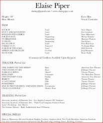 Actors Resume Actor Resume Template RESUME 94