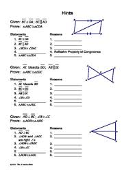 Triangle Proofs Congruent Triangles Proofs Cut And Paste Activity