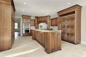 Light wood tile flooring Dark Rustic Wood Tones Give This Minimal Kitchen Setup Traditional Look Home Stratosphere 43
