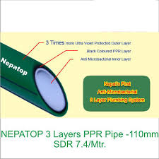 Nepatop 3 Layers Ppr Pipe Sdr 6 Mtr 63 Mm