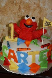 Kels Cake Creations Elmo 1st Birthday Cake And Smash Cake