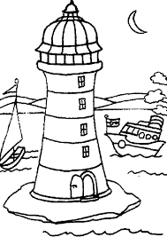 Small Picture Realistic Lighthouse Coloring Pages Coloring Coloring Pages