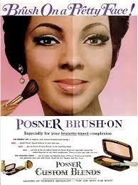 posner african american vine makeup advertisment 1960s
