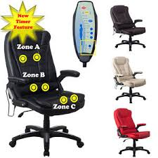 massage chair for desk. image is loading raygar-luxury-leather-6-point-massage-amp-reclining- massage chair for desk