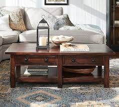 Wooden furniture living room designs Bedroom Benchwright Rectangular Coffee Table Scandinavian Designs Glass Wood And Metal Coffee Tables Pottery Barn
