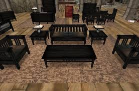 what color is ebony furniture. Rustica Furniture: Ebony Wood 30-Piece Shaded MissionStyle Set, LowPrim With Color/ What Color Is Furniture Second Life Marketplace
