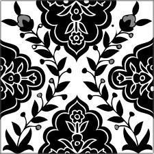 Decorative Tile Designs Decorative tiles black White Balian Tile Studio of Jerusalem 45