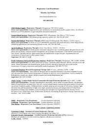 Occupational Therapy Resume Examples Occupational Therapy Resume
