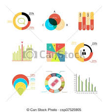 Vector Infographic Elements Charts Diagrams Graphs