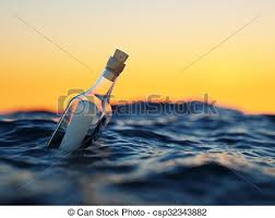 letter in a bottle glass bottle with letter in the sea concept pictures search