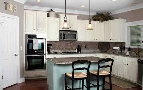 kitchen designs with light colored cabinets gray oak and white appliances blue clean brown black full