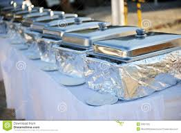 Latest Chafing Dishes Designs Banquet Table With Chafing Dishes Stock Image Image Of